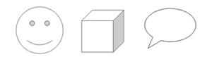 図形パレットで線や吹き出し等図形を描くことができます。