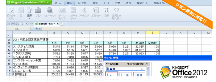 KINGSOFT Office 2012の新機能