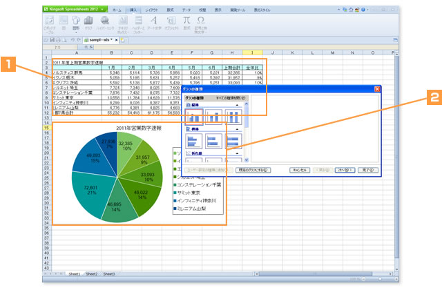 Kingsoft Spreadsheets2012でできること!