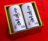 合格茶 煎茶 150g入 + 梅昆布茶スティック 各本1ずつ箱入り